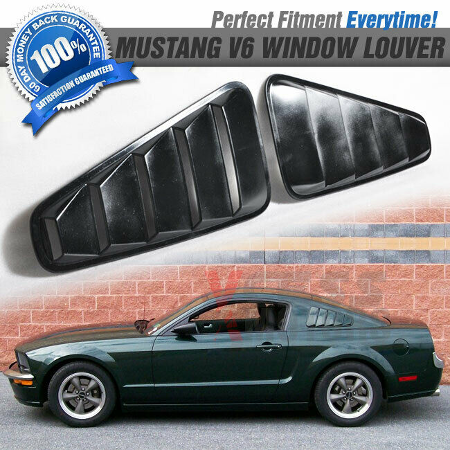 For 05 09 ford mustang one pair quarter side vent window for 05 mustang rear window louvers