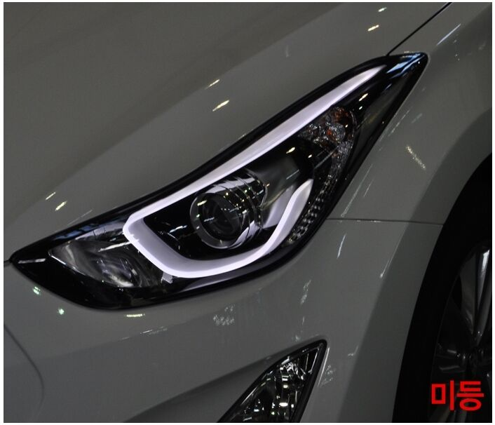Projection Led Headlamp Lights For Hyundai 2011 2015