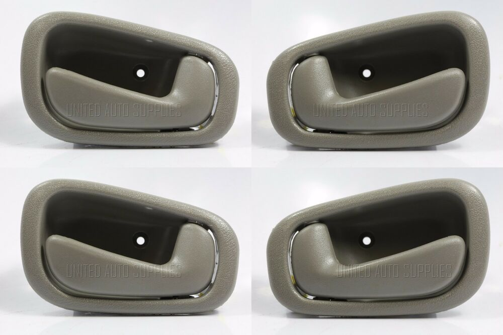 Set Of 4 Pcs Inside Door Handle Gray Grey For 98 02 Toyota