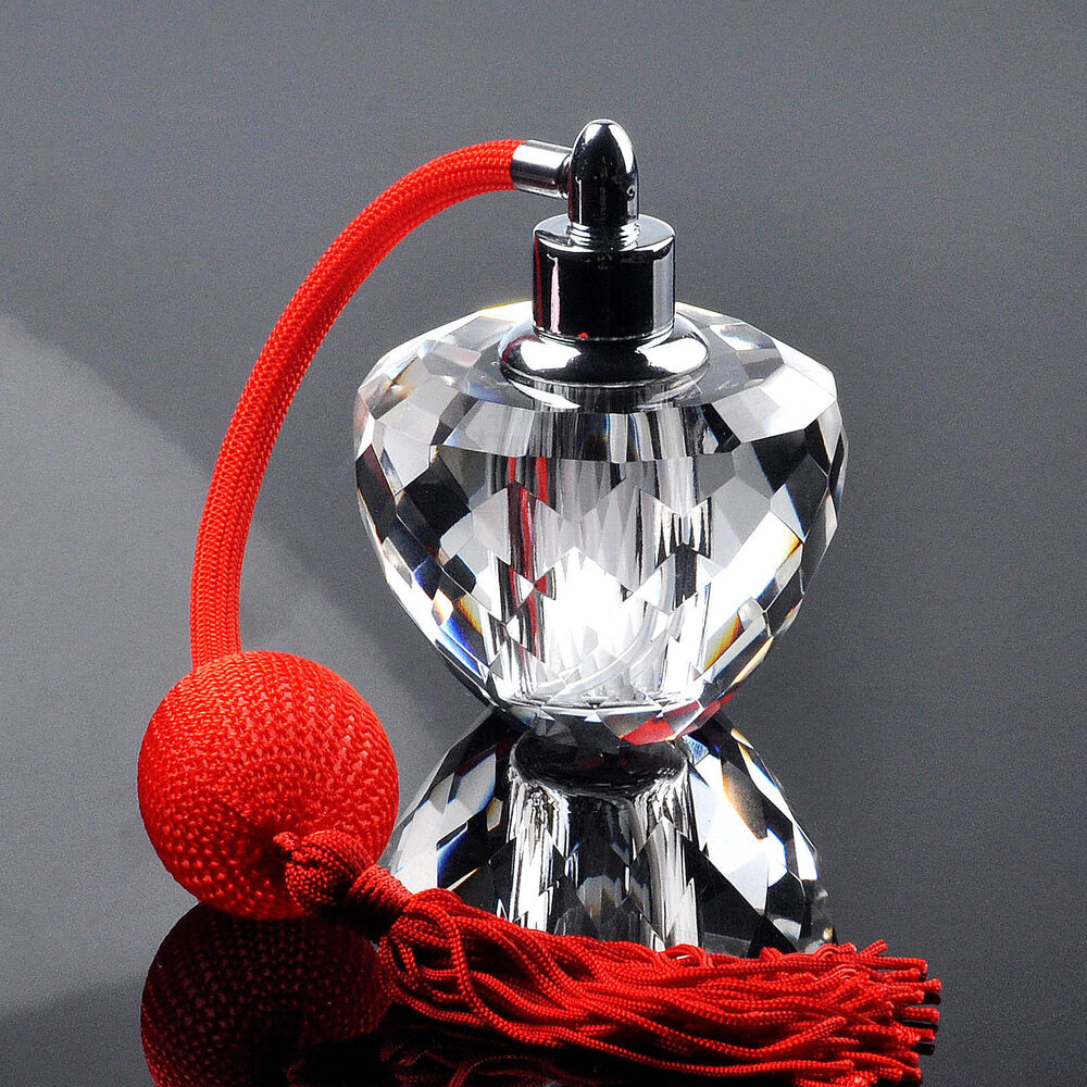 Wholesale Decorative Perfume Bottles: Crystal Perfume Bottle Vintage Red Pump Spray Glass