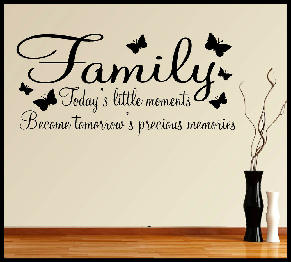 FAMILY WALL ART STICKER QUOTE INSPIRATIONAL WORDS PHRASES