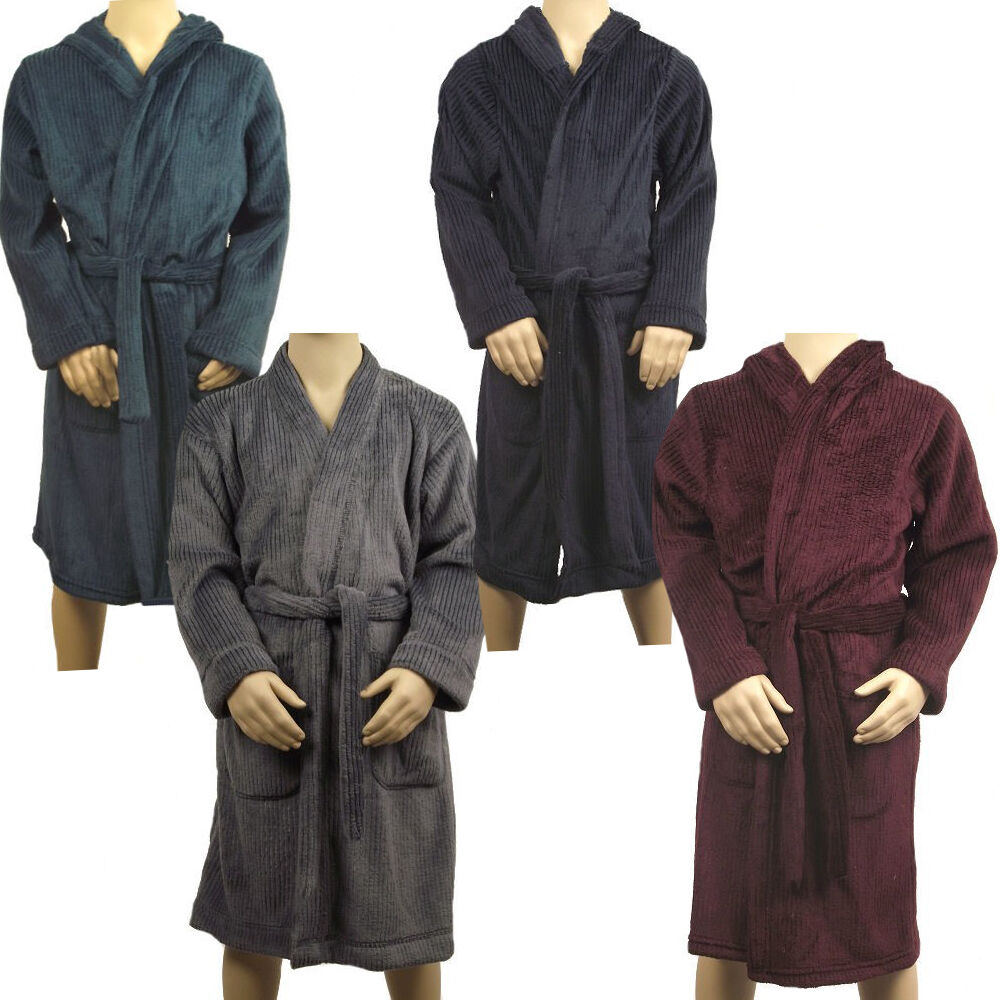 Boys Dressing Gown: Marks & Spencer Boys Youth Hooded Fleece Dressing Gown M&S