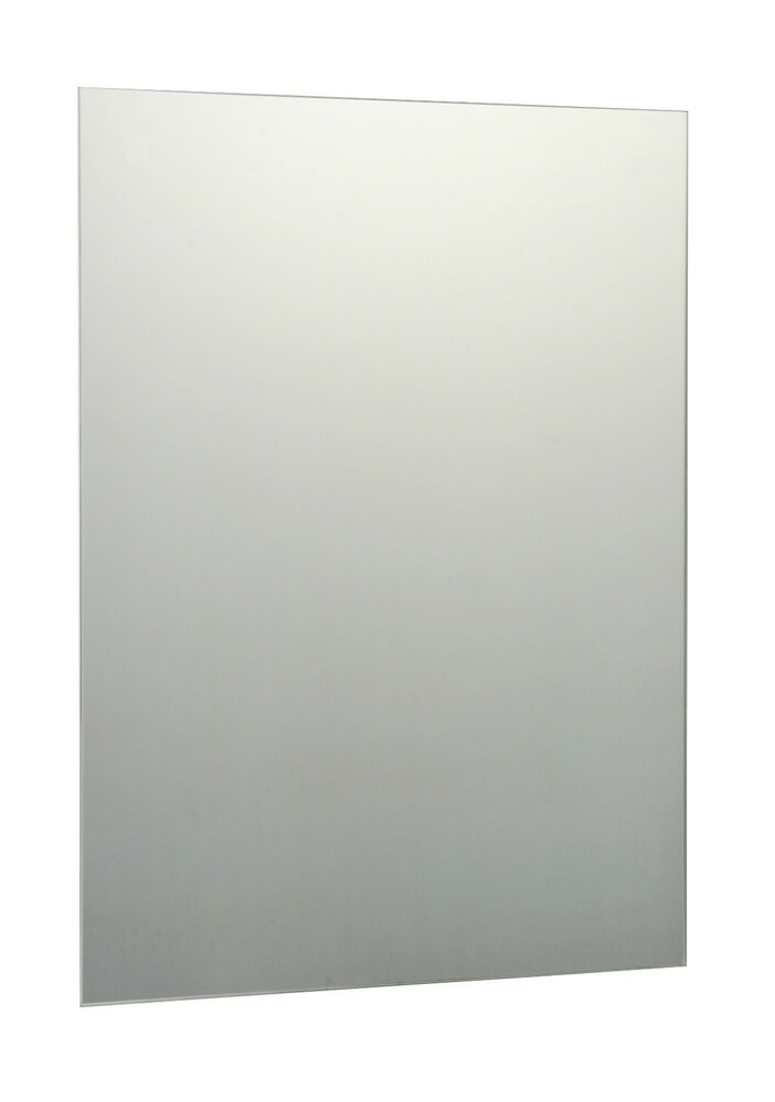 plain frameless unframed bathroom mirror silver mirror