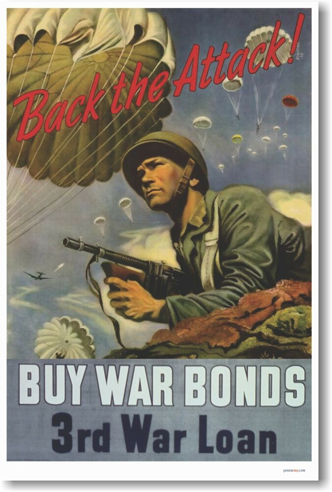 Back the attack buy war bonds 3rd war loan new for Buy art posters online
