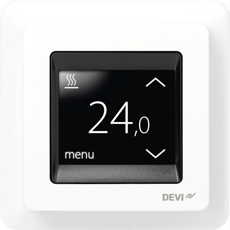 devireg touch thermostat f r elektrische fu bodenheizung temperaturregler ebay. Black Bedroom Furniture Sets. Home Design Ideas