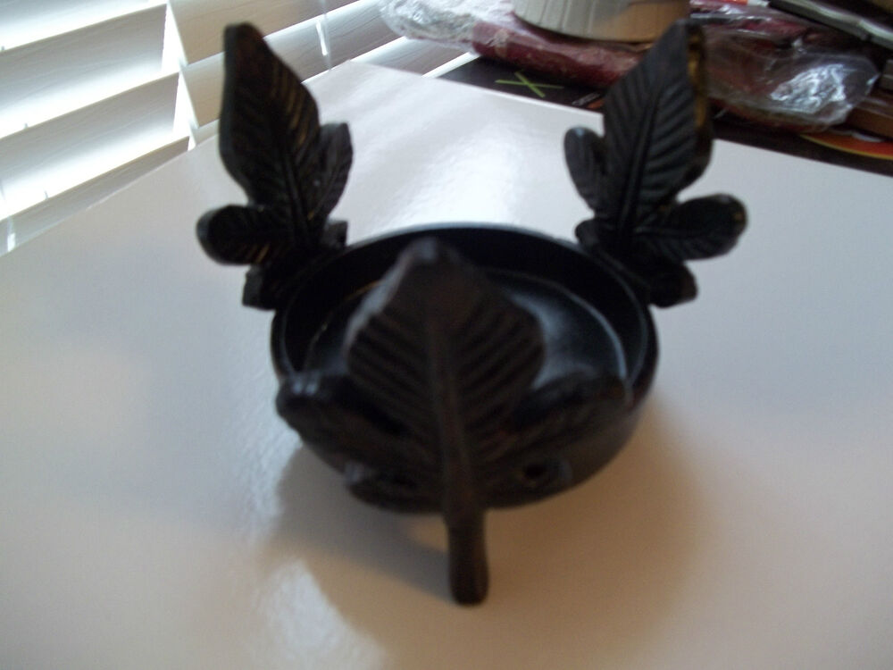 Http Www Ebay Com Itm New Home Decorative Leaf Leaves Candle Holder 4 Round Black Brown Red 151186236205