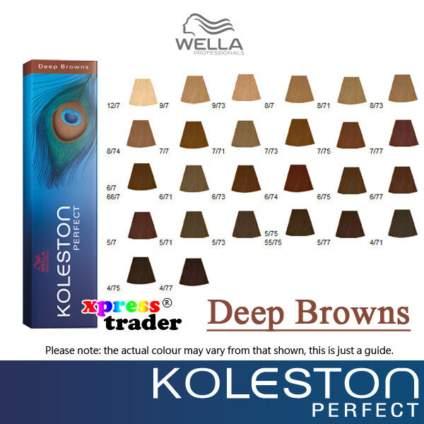 Wella Koleston Deep Browns Perfect Permanent Dye 60g Hair Color  eBay