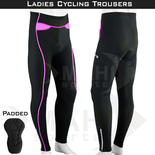 Ladies Cycling Trousers CoolMax Padded Winter Cycle ...