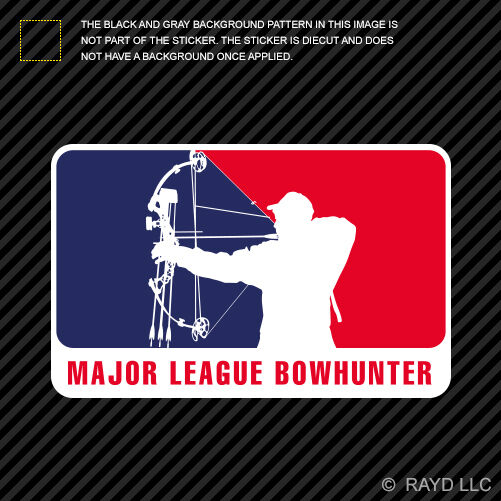 Major League Bowhunter Sticker Decal Self Adhesive Vinyl