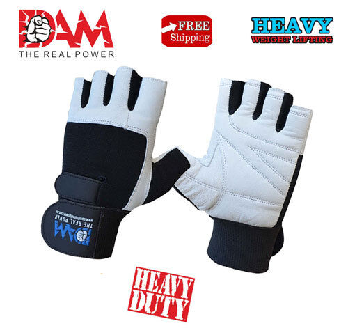 Dam Weight Lifting Gym Gloves Body Building Workout White: DAM WEIGHT LIFTING GYM GLOVES BODY BUILDING WORKOUT