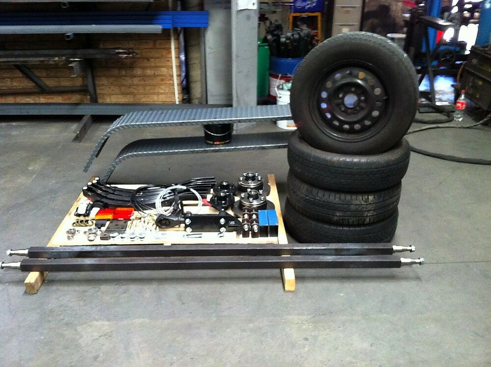 Dual Wheel Axles For Trailer : Trailer axle kit includes guards wiring led lights wheels