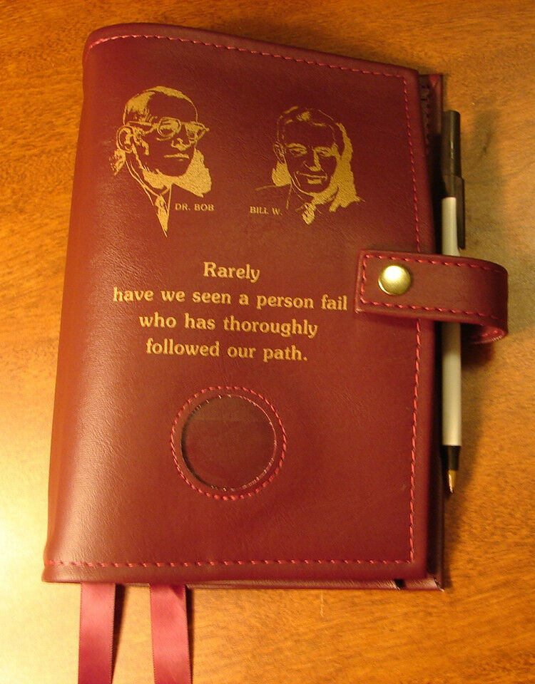 Book Cover Case : Alcoholics anonymous aa big book deluxe founders