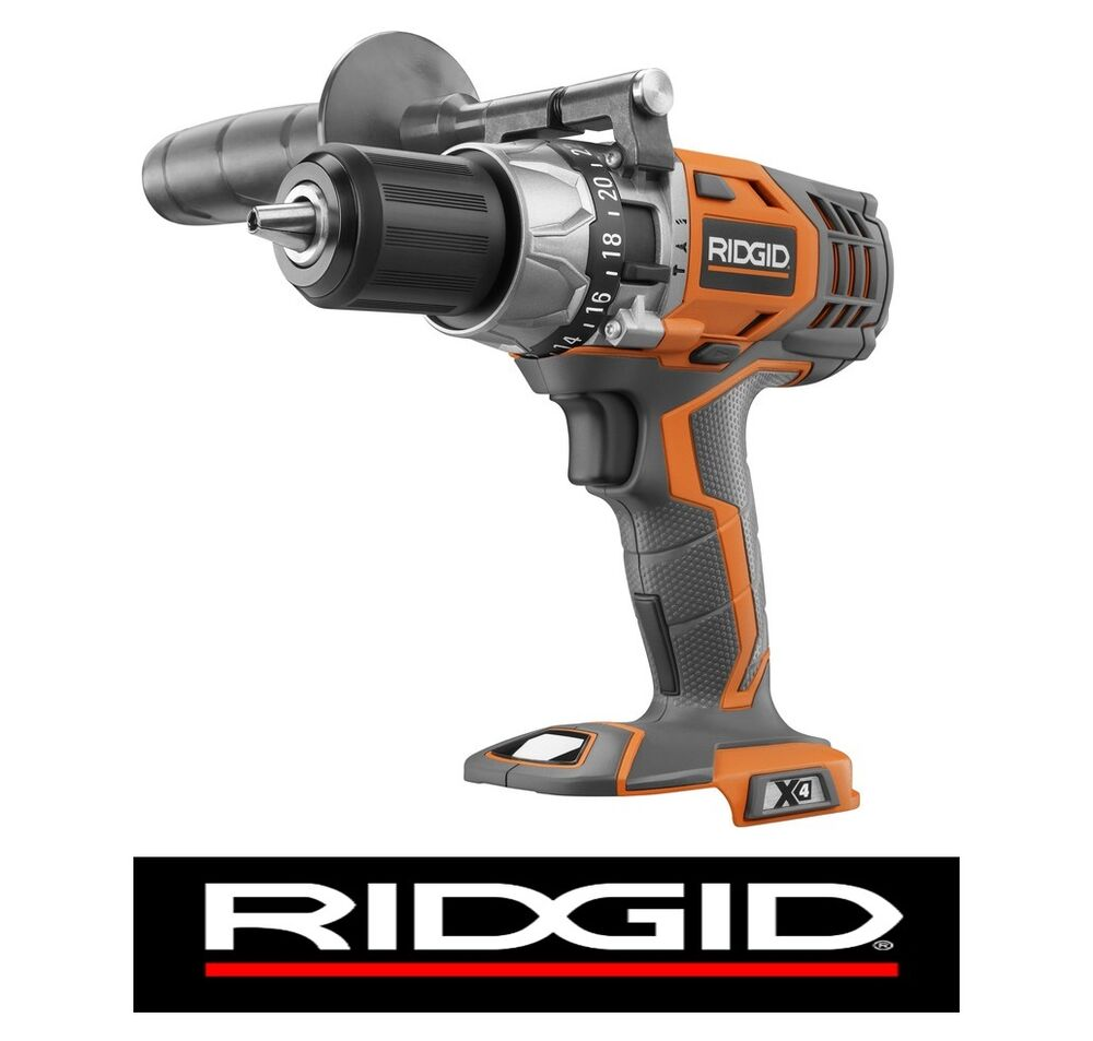 ridgid 18v 18 volt x4 lithium compact 1 2 cordless hammer. Black Bedroom Furniture Sets. Home Design Ideas