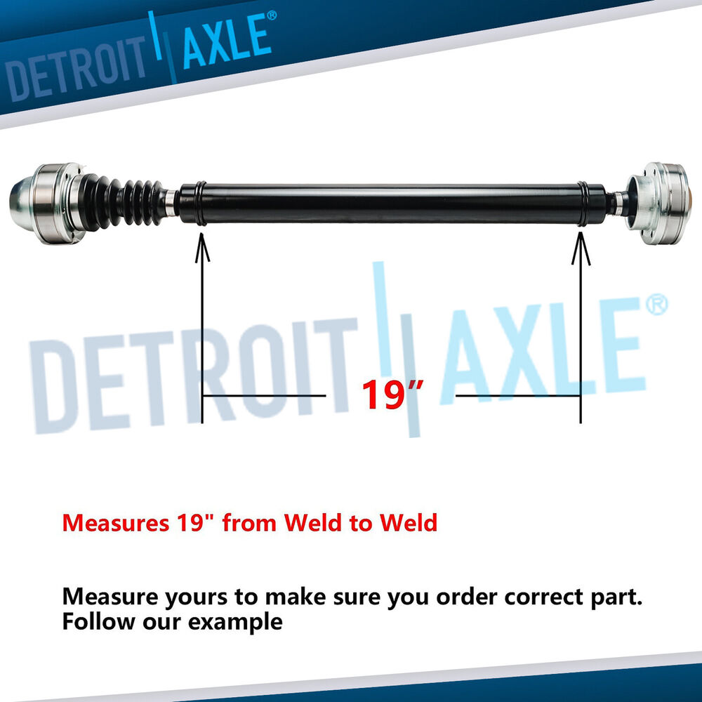 Brand New Complete Front Cv Driveshaft Prop Shaft Jeep 3