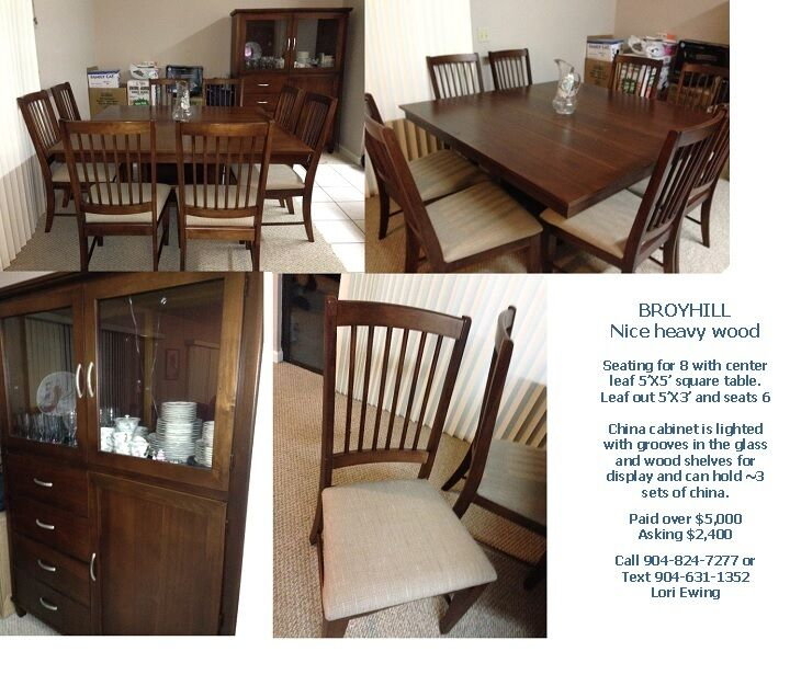 broyhill dining room set seats up to 8 ebay
