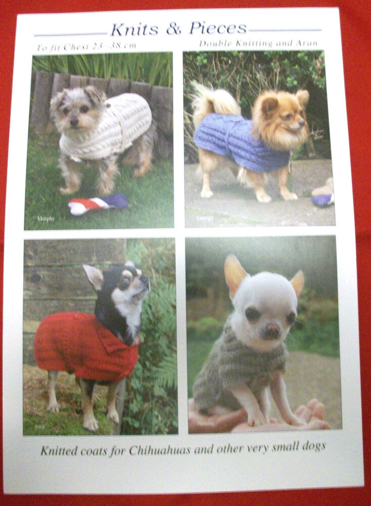 Knitting Pattern For Very Small Dog Coat : KNITS & PIECES CHIHUAHUA, VERY SMALL DOG JUMPER COAT ...