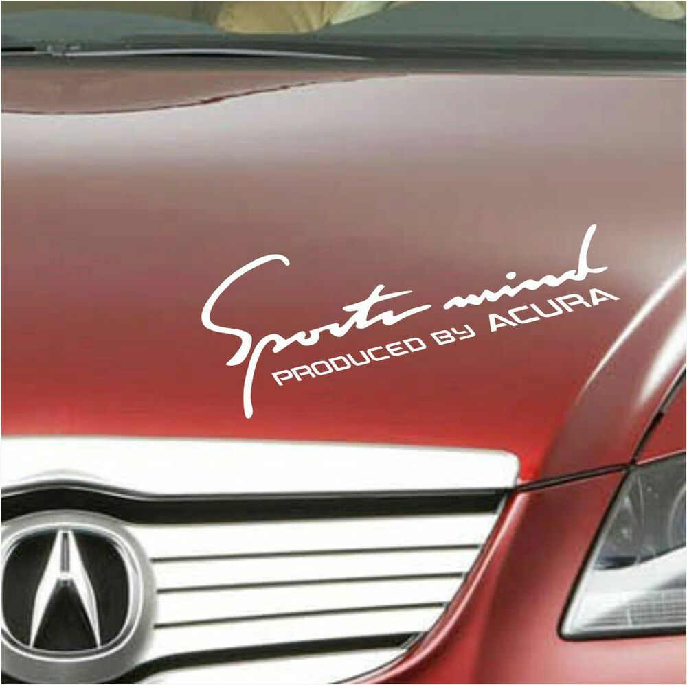 Acura Decal Sports Mind Produced By Acura Logo Sticker