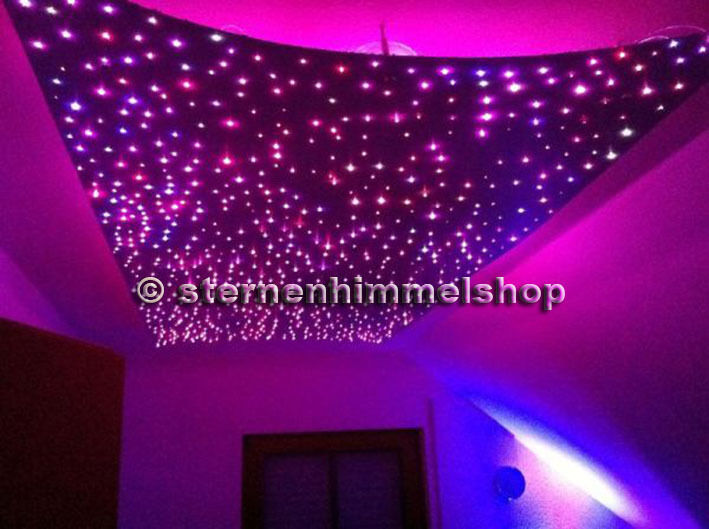 led light starry sky fiber optic star ceiling kit color. Black Bedroom Furniture Sets. Home Design Ideas