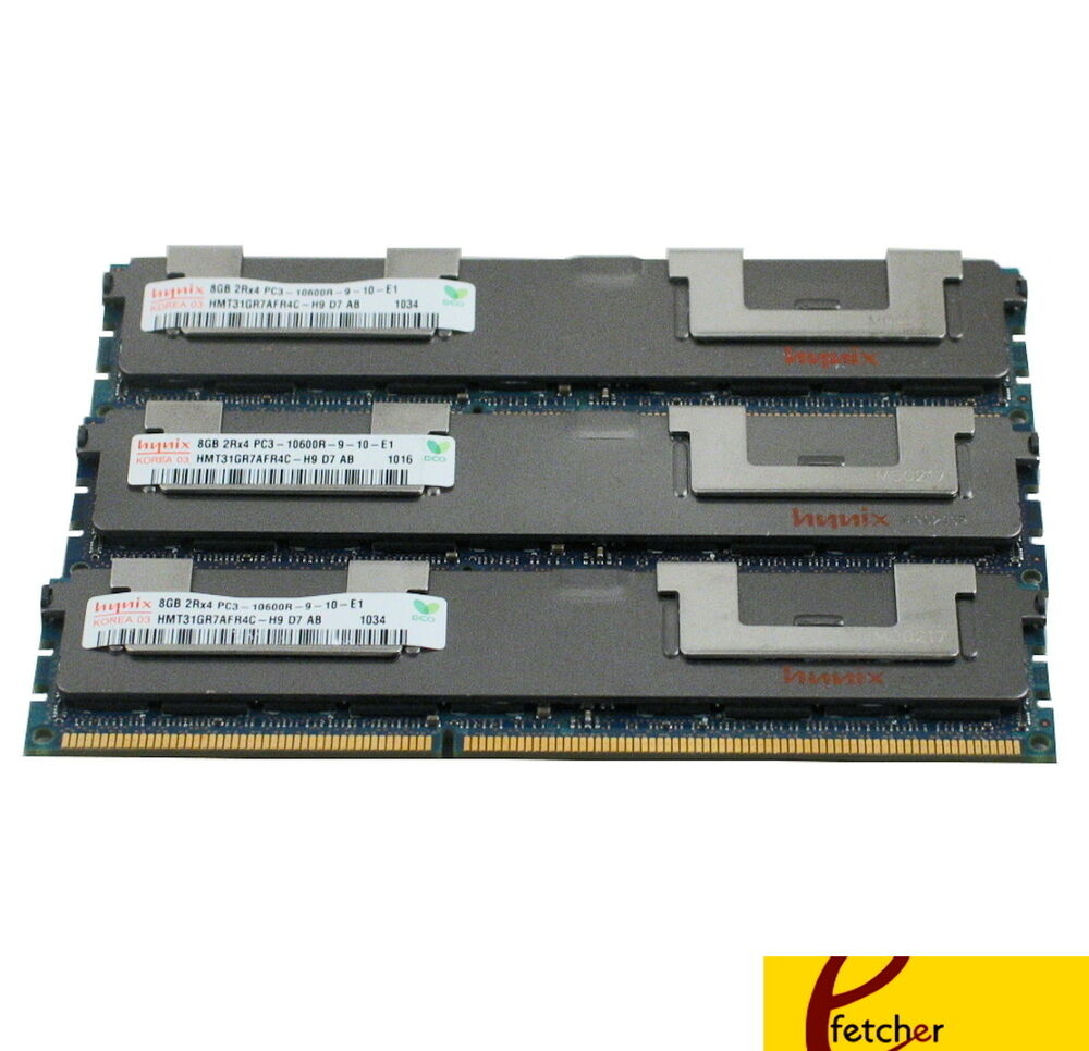 24gb 3x8gb memory for hp proliant dl380 g7 dl980 g7 ml330 g6 ml350 g6 ml370 g6 ebay. Black Bedroom Furniture Sets. Home Design Ideas