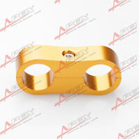 AN -6 (AN6)GOLDEN Braided Hose Separator Clamp Fitting Adapter (Fuel Oil)