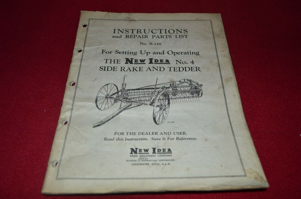 New Idea Rake Parts List : New idea no side rake and tedder parts book operator