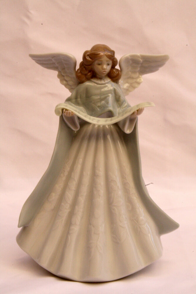 Magnificent brand new lladro porcelain figurine of an angel singing ebay - Angels figurines for sale ...
