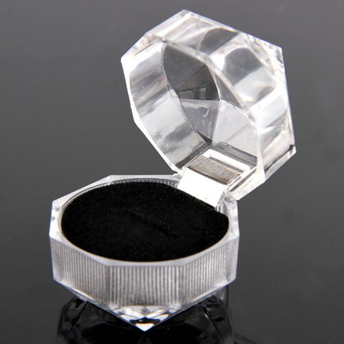 1x Plastic Clear Crystal Jewelry Earring Ring Presentation