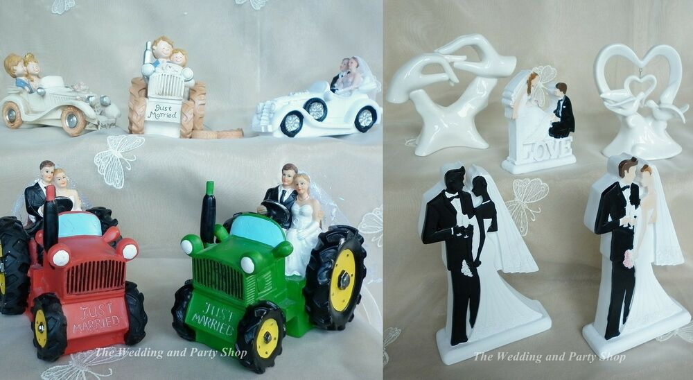 Tractor Cake Decorations Uk : WEDDING CAKE TOPPER, TRACTOR SCOOTER, MOPED, BLACK AND ...