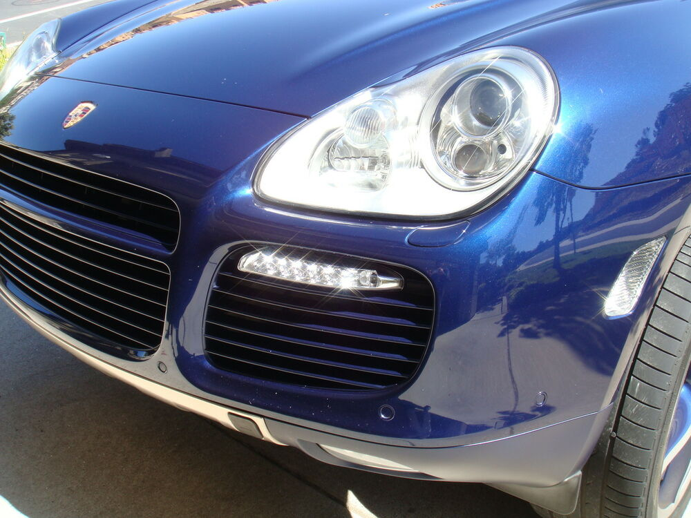 porsche cayenne 955 to 997 turbo gt2 style led drl turn. Black Bedroom Furniture Sets. Home Design Ideas