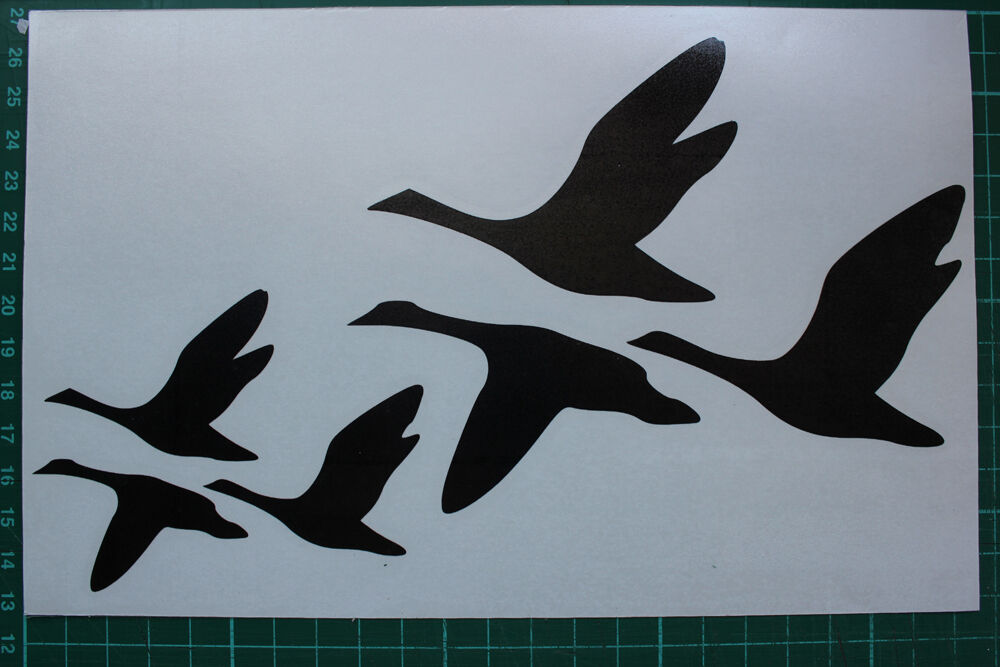 Flying geese stickers decals graphics wildfowling for Duck hunting mural