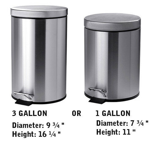 Stainless Steel Kitchen Garbage Can: Stainless Steel Kitchen Trash Can Lid Garbage Bin Step
