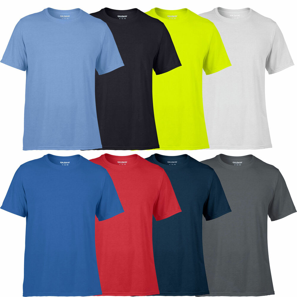 gildan mens performance t shirt wickable breathable
