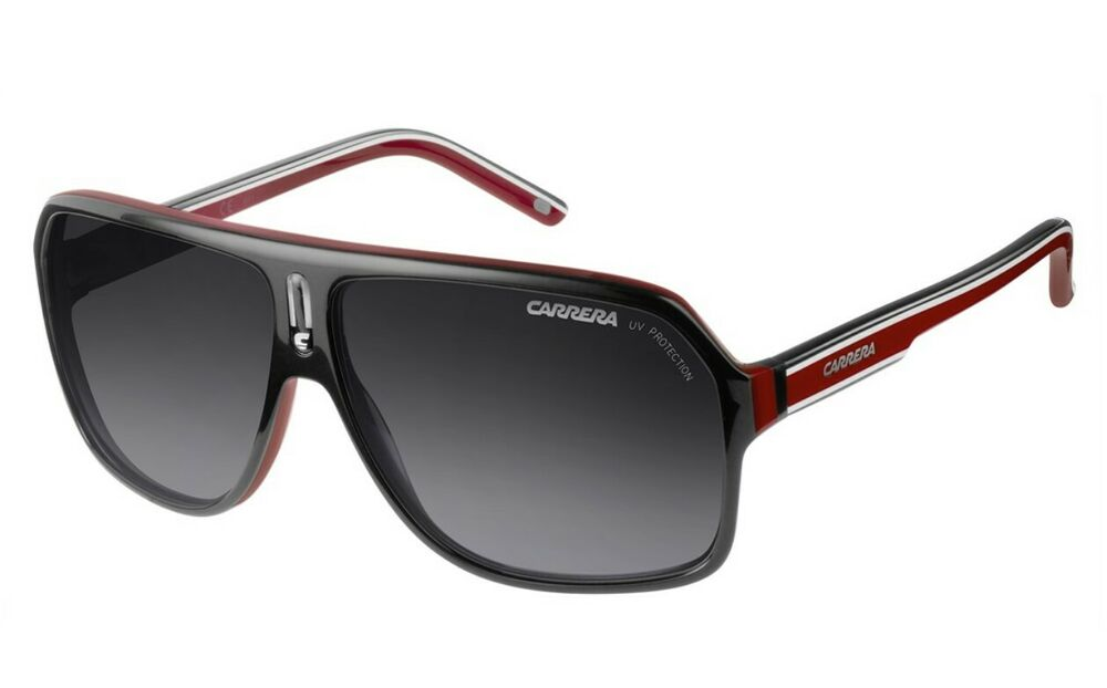 Details about NEW Carrera Sunglasses 27 Black White Red  Grey Gradient  XAV90 Racing Cycling 0c53912ac50c