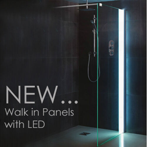 Led Walk In Shower Panel 8mm Glass Screen Enclosure Wet