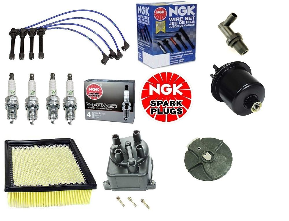 complete tune up kit filters cap rotor ngk wires plugs honda crv 1999 to 2001 ebay. Black Bedroom Furniture Sets. Home Design Ideas