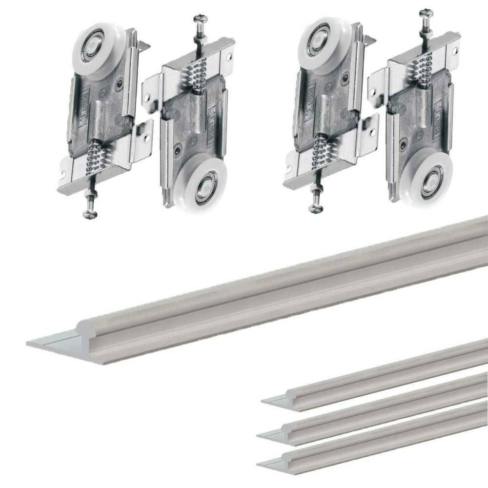Fastor Sliding Wardrobe Door 1500mmtrack Kit For Diy With