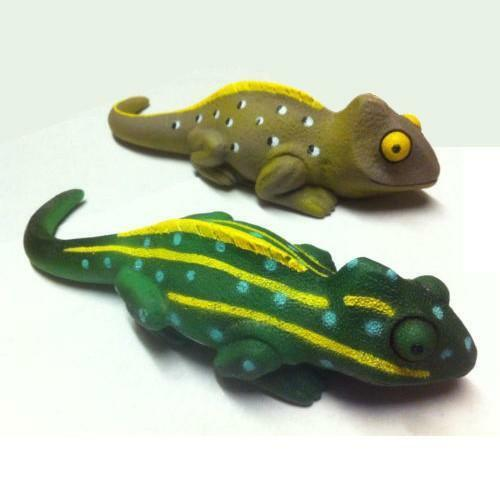 Chameleon Garden Ornament Decorative Shed Pond Patio Durable Plastic Sand Fill Ebay
