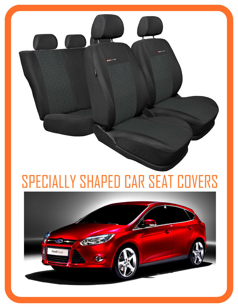 tailored seat covers for ford focus mk3 2011 on full set grey1 324 ebay. Black Bedroom Furniture Sets. Home Design Ideas