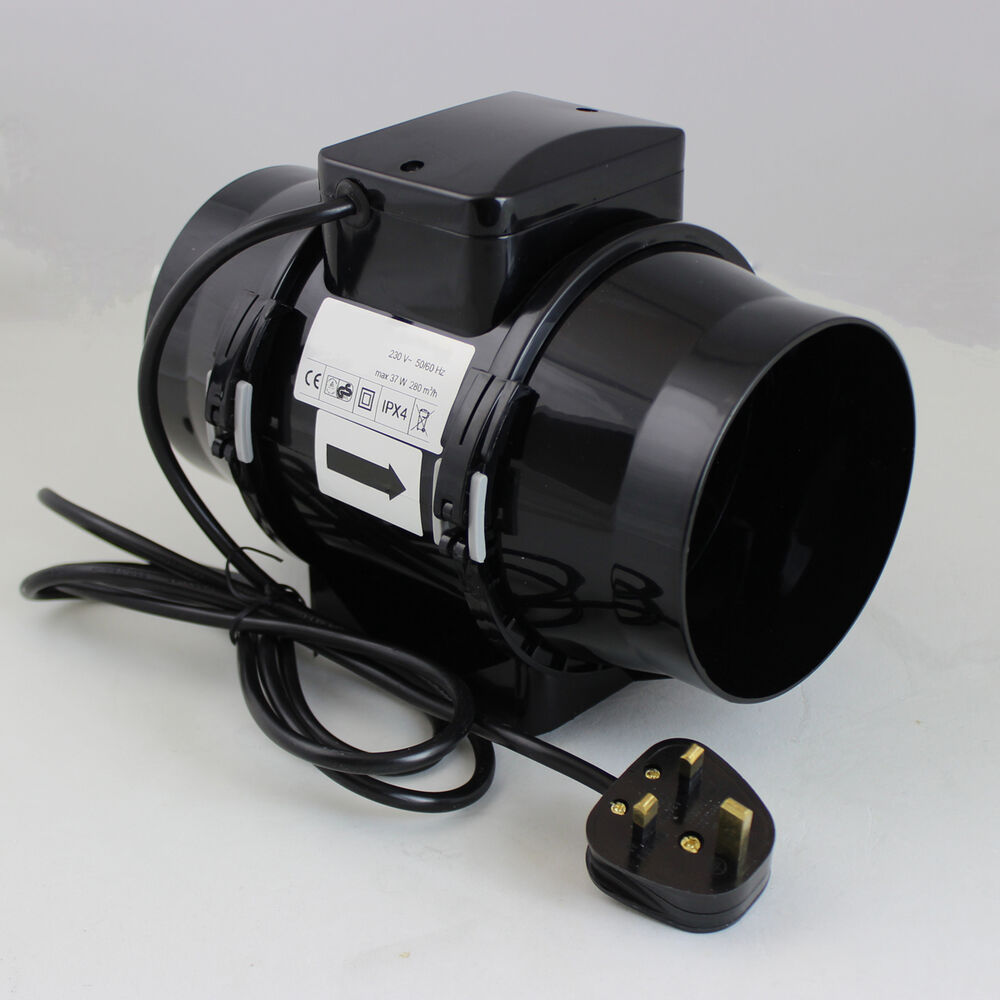 Hydroponic Carbon Filter Inline Extractor Fan Pump Grow Room Tent Ventilation 5 Ebay