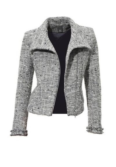 best connection blazer jacke neu damen biker style silber grau boucl ebay. Black Bedroom Furniture Sets. Home Design Ideas