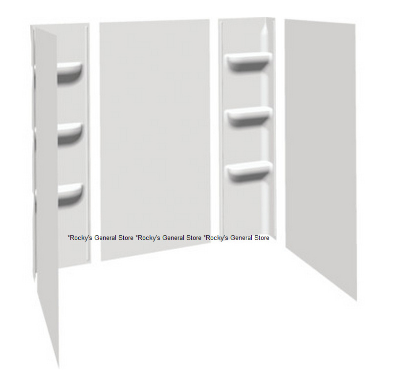 Extra tall bath tub shower wall surround enclosure white for How tall is a tub