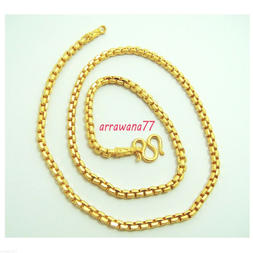 Thai Gold Necklace: 18K 22K 24K THAI BAHT YELLOW GOLD GP Filled NECKLACE 24