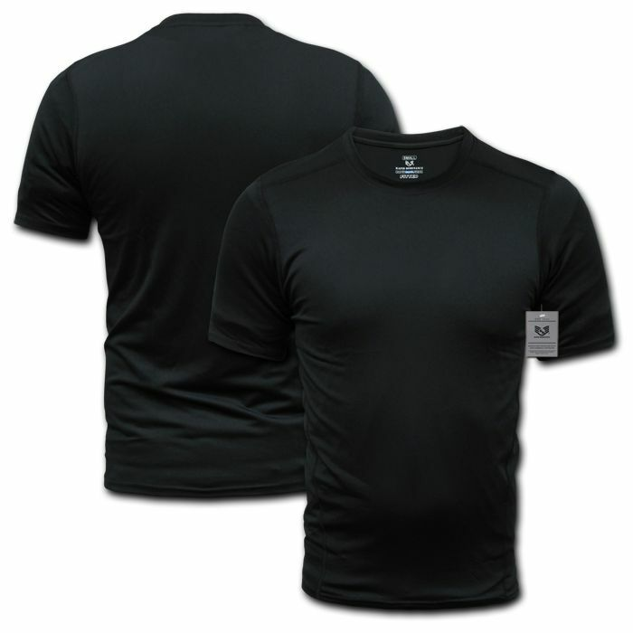 US Military Dri Cool Muscle Workout Fit Training Black