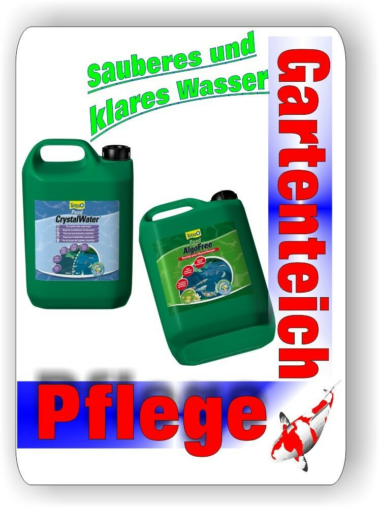 algofree crystalwater je 3 liter tetra pond klares wasser im gartenteich ebay. Black Bedroom Furniture Sets. Home Design Ideas
