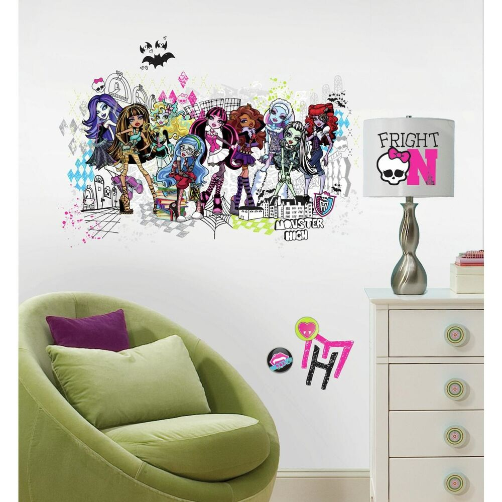 Monster High Group Giant Wall Decals Big Girls Room Stickers Bedroom