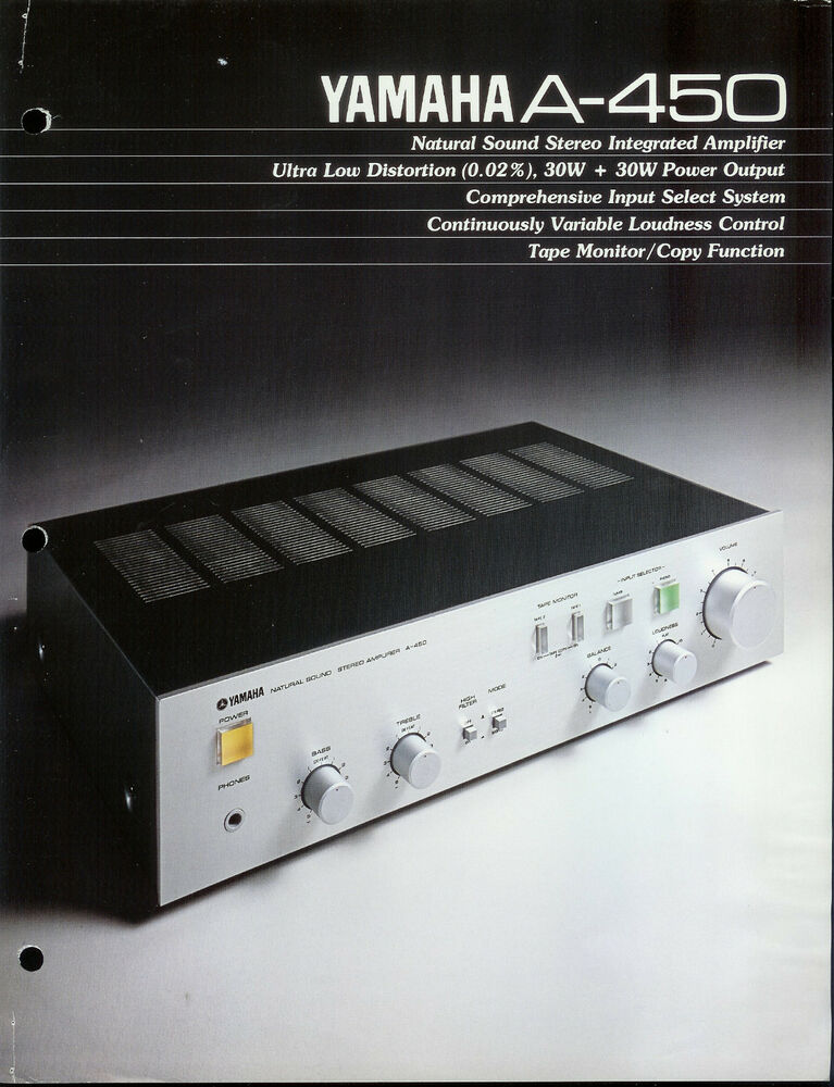 Rare collectible yamaha a 450 stereo amplifier amp dealer for Yamaha thr amplifier