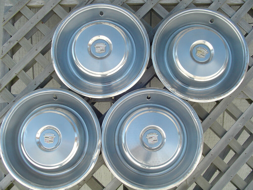 1965 65 Cadillac Deville Fleetwood Hubcaps Wheel Covers