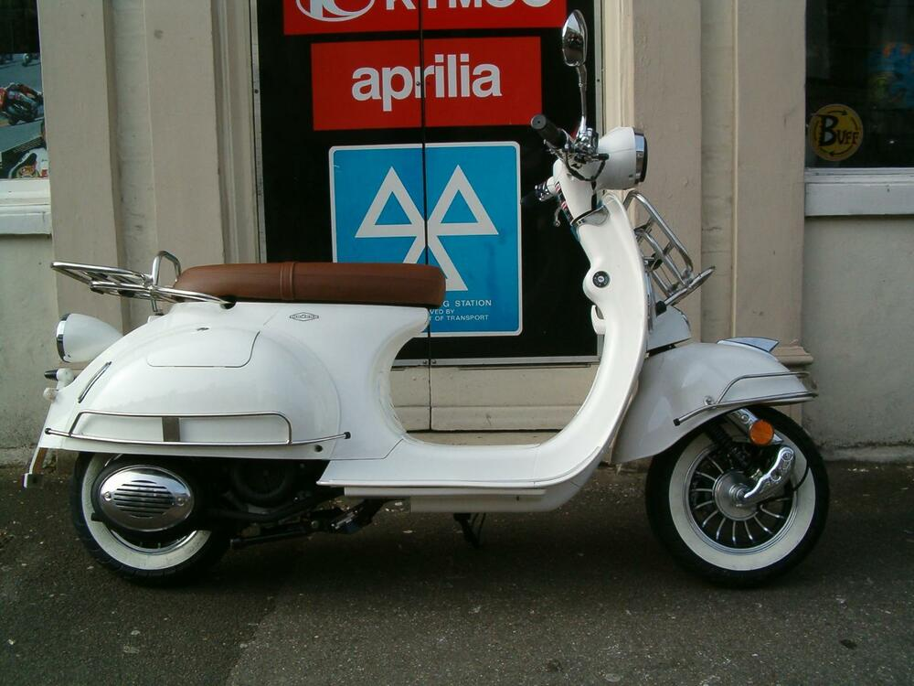 ajs modena 125 classic 50s style scooter ebay. Black Bedroom Furniture Sets. Home Design Ideas