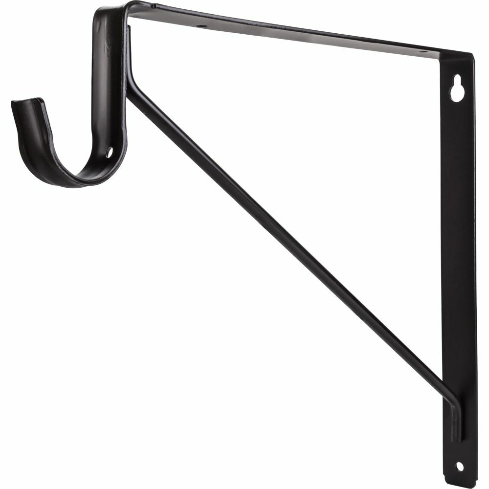 closet pro in platinum shelf and rod bracket