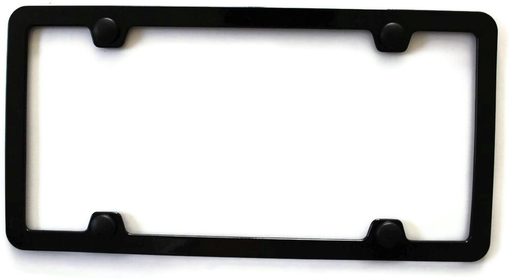 Scion Tc Front License Plate >> Slim Thin Border Black Metal License Plate Frame Toyota for Nissan Tundra Scion | eBay